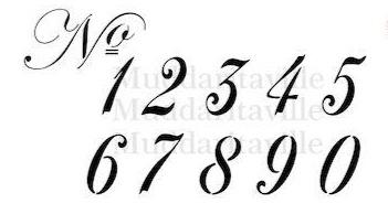 3in Italic Numbers Stencil