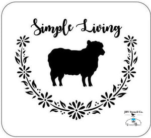Simple Living - JRV Stencil Co