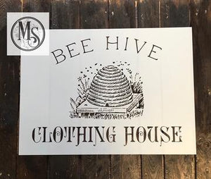 Bee Hive Clothing Stencil