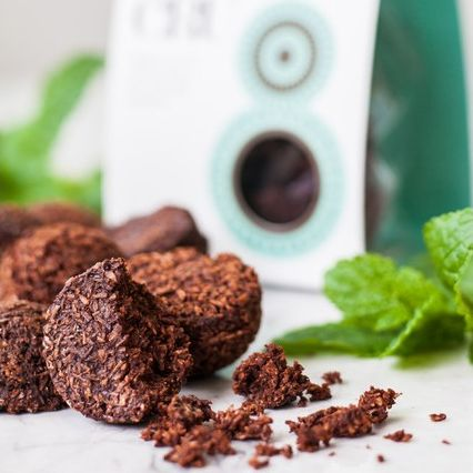 Raw Cacao and Mint Macaroons VEGAN FRIENDLY