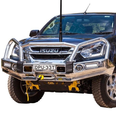 T15 Signature Alloy Winch Bar Isuzu Dmax 1/17+