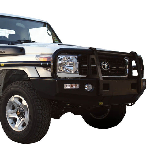 T13 Outback Steel Winch Bar Toyota LC70 3/07+ V8 suit Flares (not S/C 9/16+)