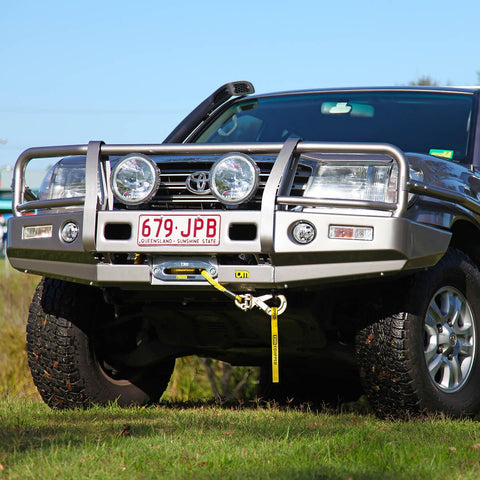 T13 Outback Steel Winch Bar Toyota LC100 IFS 11/02-10/07