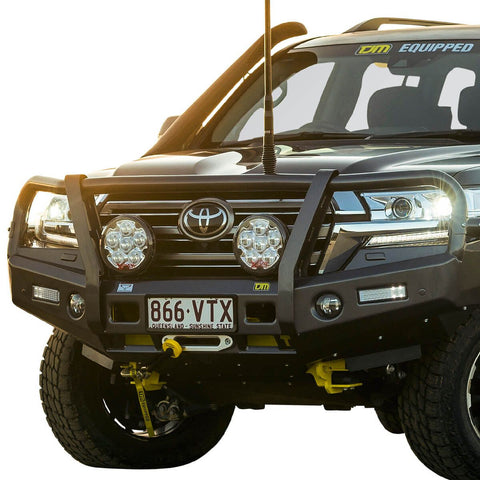 T13 Outback Steel Winch Bar Toyota LC200 8/15+ (req sup kit)