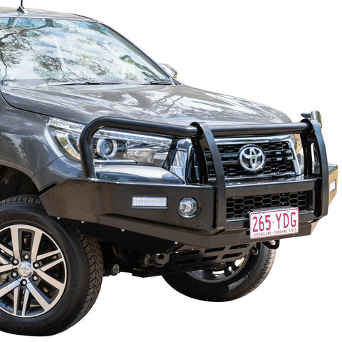 T13 Outback Steel Winch Bar Hilux 6/18+ Widebody