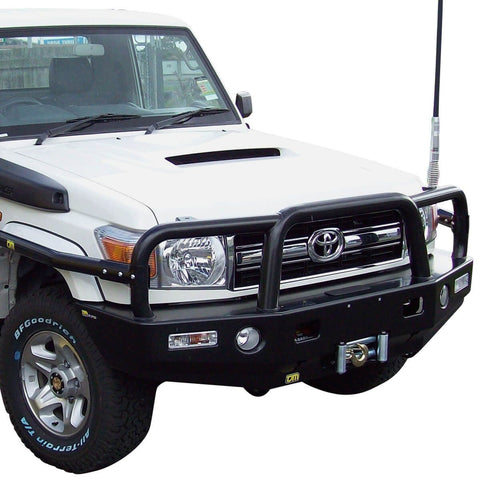 T15 Deluxe Steel Winch Bar Toyota LC70 3/07+ V8 GXL (Not S/C 10/16+)