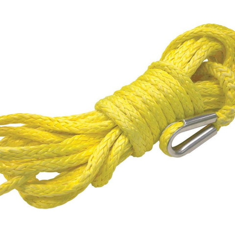 Yellow Winch Rope Synthetic 9.5mm