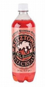Kutztown Soda:Kutztown Soda Red Cream Plastic 24 oz Case/24