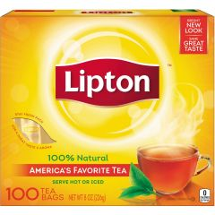 Lipton - Original Flavored Regular Tea Bags - 100 CT.  LESS THAN 6 CENTS PER CUP!