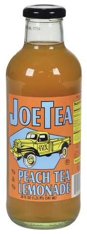 JOE TEA HALF PEACH TEA 20 OZ GLASS-12/CASE