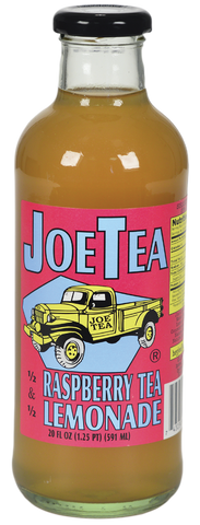 JOE TEA HALF RASPBERRY TEA 20 OZ GLASS-12/CASE