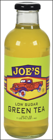JOE TEA LOW SUGAR GREEN 20 OZ GLASS-12/CASE
