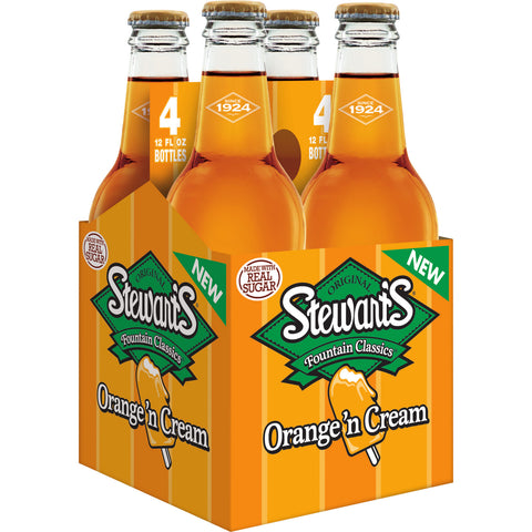 Stewart's ORANGE CREAM 12 oz. - 4 PACK