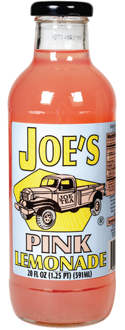 JOE TEA PINK LEMONADE 20 OZ GLASS 12/CASE