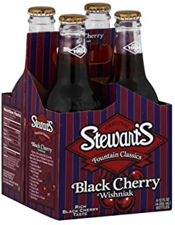 Stewart's  BLACK CHERRY  12 OZ - 4 PACK