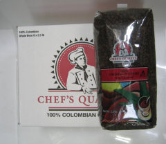 Chef's Quality - Whole Bean Colombian Coffee - 2.5 lb Bag.  THAT'S JUST $5.60 per lb.!!!