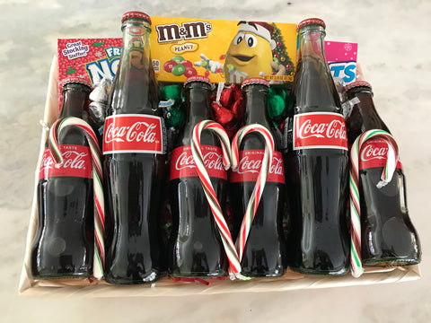 Christmas and Holiday Coke Basket