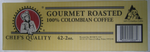 Chef's Quality - Colombian Ground Coffee - 42/2 oz Packets That's Just .65 per pot!