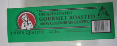 Chef's Quality - Columbian Decaffeinated Coffee - 42/2 oz Packet That's Just .67 per pot!