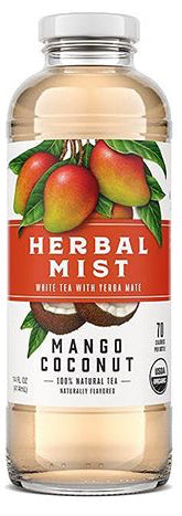 Organic Herbal Mist Glass Mango Coconut 14 oz. 12 ct.