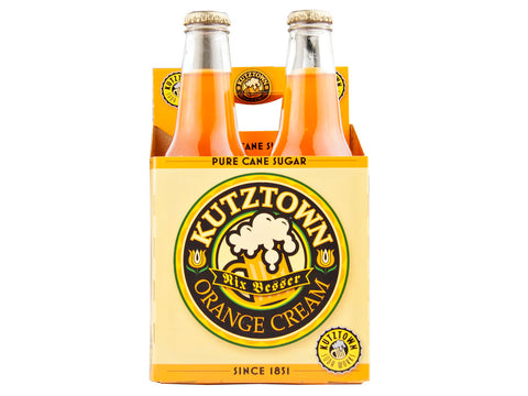 Kutztown Soda: GLASS Kutztown Soda Orange Cream 12 oz Glass 4 Pack