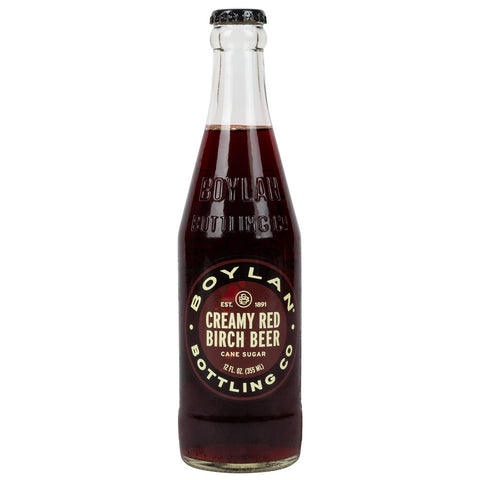 BOYLAN CREAMY RED BIRCH BEER 12 OZ -24/CASE