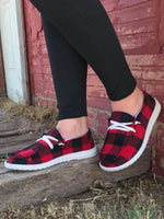 Load image into Gallery viewer, Buffalo Plaid Slip On Shoes