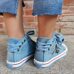 Load image into Gallery viewer, Women's Casual Denim High-top Canvas Shoes
