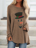 Load image into Gallery viewer, Women's Snowman Christmas Long Sleeve Top