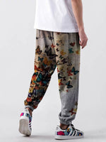 Load image into Gallery viewer, Men's butterfly print casual slacks