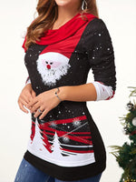 Load image into Gallery viewer, Santa Claus Print Elegant Long Sleeve T-Shirt