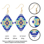 Load image into Gallery viewer, Hand-woven geometric simple earrings