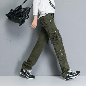 Military Combat Multi-pocket Straight Loose Cargo Pants