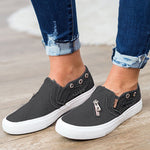 Load image into Gallery viewer, Women's Zipper Denim Canvas Shoes