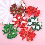 Load image into Gallery viewer, Christmas children's hairpin ear bow hair ornament