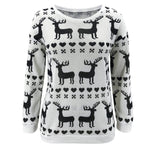 Load image into Gallery viewer, Ladies Christmas Elk Snowman Sweater