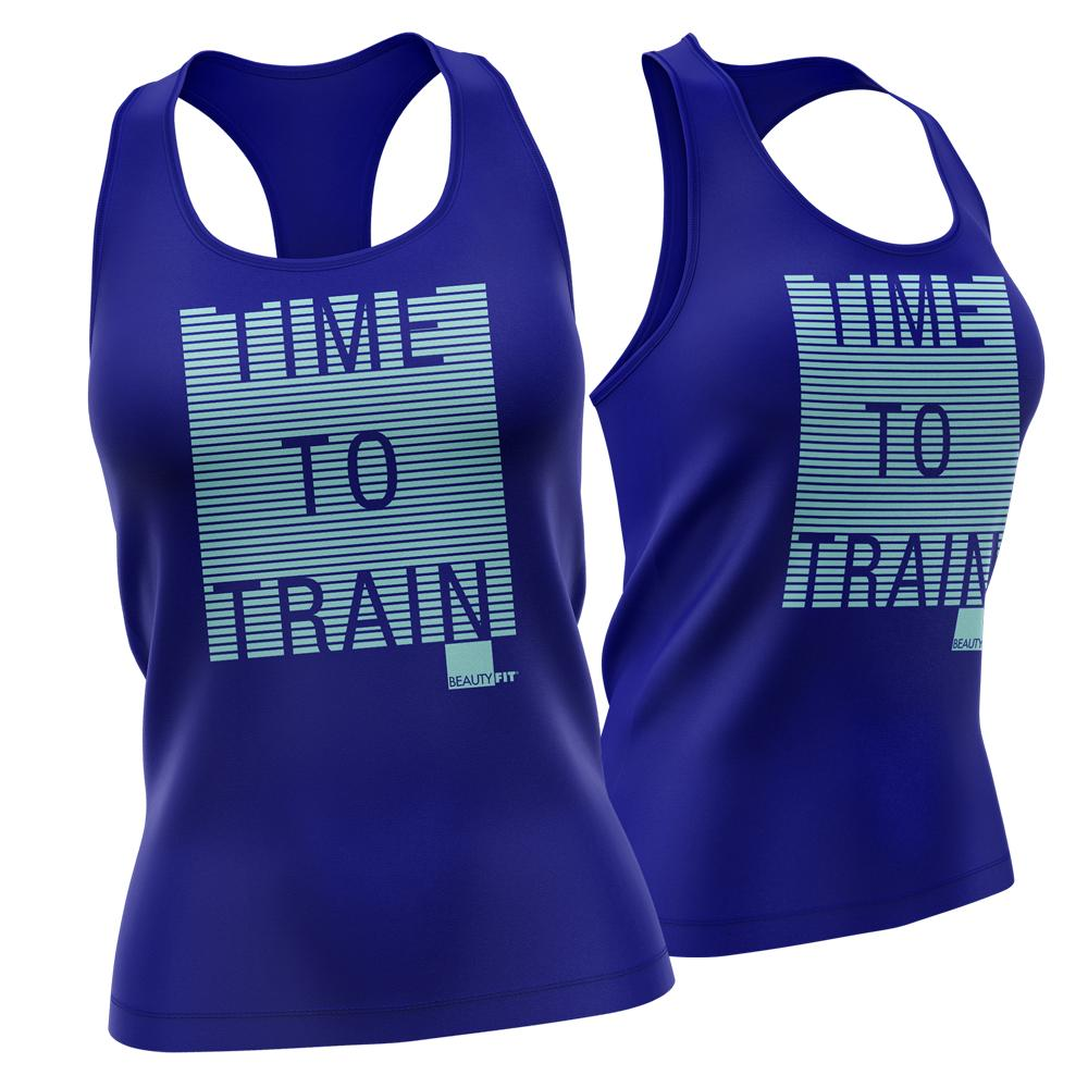 'TIME TO TRAIN' Women's Racerback Tank Top