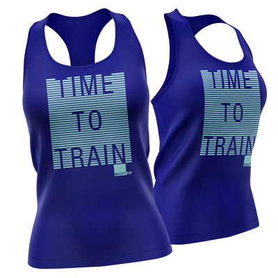 'TIME TO TRAIN' Women's Racer-back Tank Top  | BeautyFit® USA