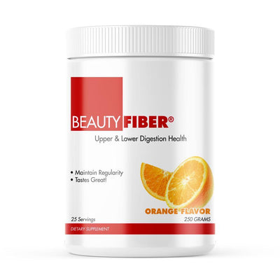 BeautyFiber® offers an easy way to increase dietary fiber-both soluble fiber from psyllium and insoluble fiber from flaxseed-without affecting your overall nutrition plan. 25 grams of your daily nutrition.  • Provides Dietary Fiber  • Perfect for Low Carb Dieting  • Helps Promote Heart Health  • Decreases Appetite and Stabilizes Blood Sugar  • Improves Digestive Health and Cleanses the Colon