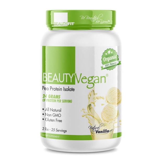 Beauty-Vegan® Pea Protein Isolate for women is the new standard for plant-based protein powders. Natural & Certified organic product that can fit any nutritional plan. | BeautyFit® USA