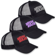 'Break Rules' Embroidered Trucker Cap | BeautyFit® USA