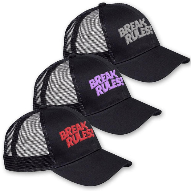 'Break Rules' Embroidered Trucker Cap