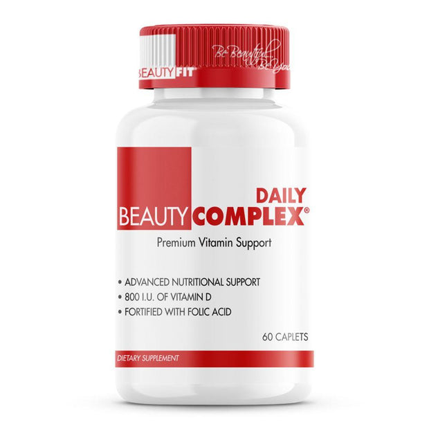Premium Multi-Vitamin Providing 21 Nutrients Formulated Specifically For A Woman's Nutritional Needs. BeautyComplex® restores missing or inadequate feminine health essentials immediately to ensure maximum nutrient intake.  • Supports Bone Health • Supports Healthy Red Blood Cells • Helps Maintain Immune Functions • Enhances Skin Health and Appearance • Helps Regulate Hormonal Metabolic Functions | BeautyFit® USA