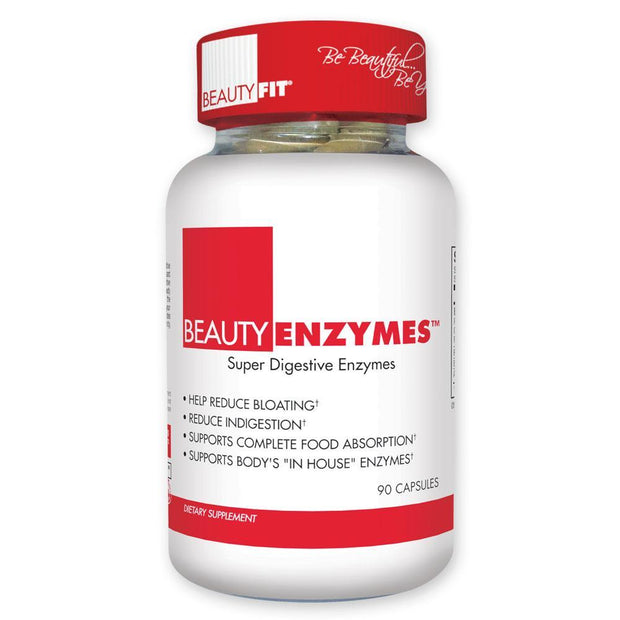 Beauty-Enzymes® provides a blend of supportive and powerful digestive enzymes that work to digest and breakdown all food, and reduce added inflammation and stress experienced on the body.  • Supports Complete Food Absorption  • Supports Fat Metabolism  • Helps Reduce Bloating and Indigestion  • Promotes Formation of Beneficial Bacteria  • Provides Gut Healthy Probiotics | BeautyFit®USA