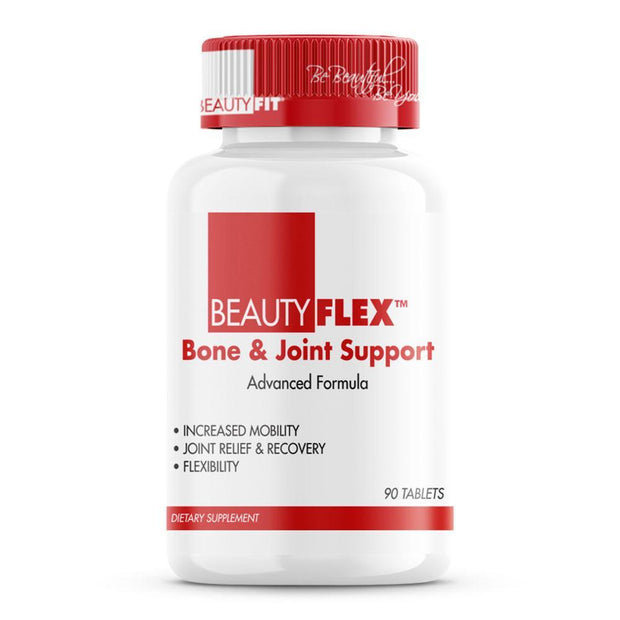 BeautyFlex® assists individuals who endure constant pressure on their joints.  Combination of Glucosamine, Chondroitin, MSM and other vital ingredients to promote healthy bone, cartilage and connective tissue.  Joint Support benefits may include:  Increased Mobility Joint Relief Recovery Healthy Formation Of Cartilage Healthy Balance Of Synovial Fluid Joint Strength & Flexibility | Beautyfit® USA