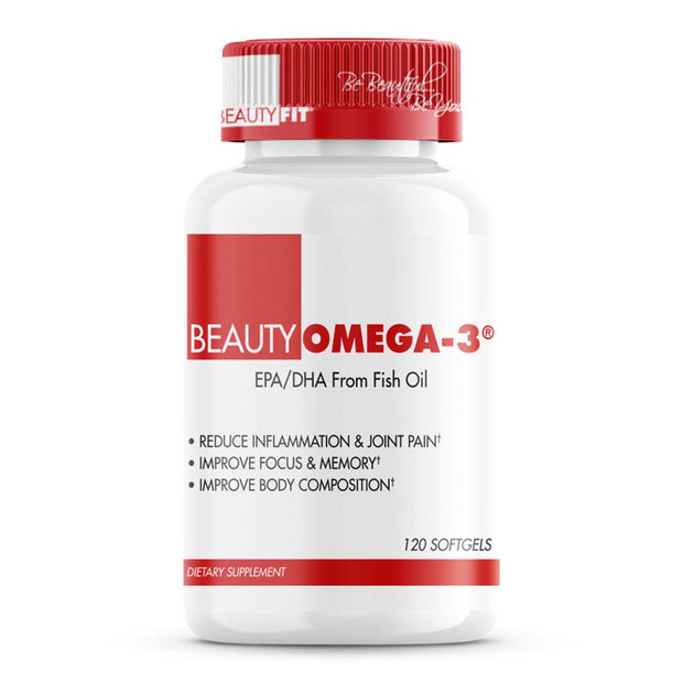 BeautyOmega-3 from BeautyFit® USA Good For Heart Health  • Helps Reduce Inflammation  • Supports Healthy Skin & Slow Aging  • May Fight Menstrual Pain for Women's Health