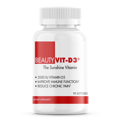 BeautyVit-D3 from BeautyFit® USA • Bone Health  • Insulin Control  • Lower Blood Pressure  • Possible Cancer Prevention  • Heart Health  • Mood