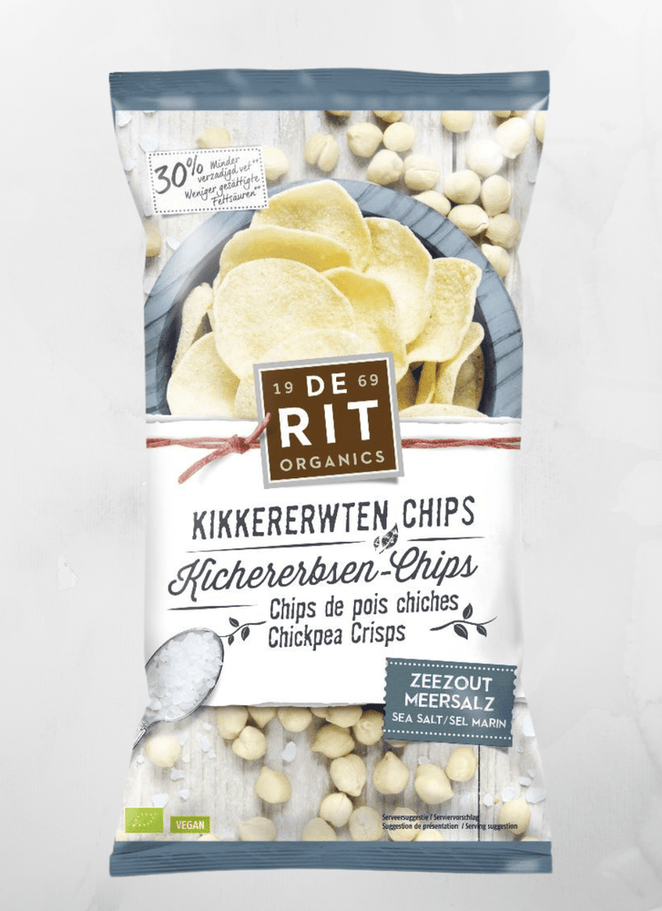 De Rit - Snacks Kichererbsenchips mit Meersalz - 75g - allesbiovegan
