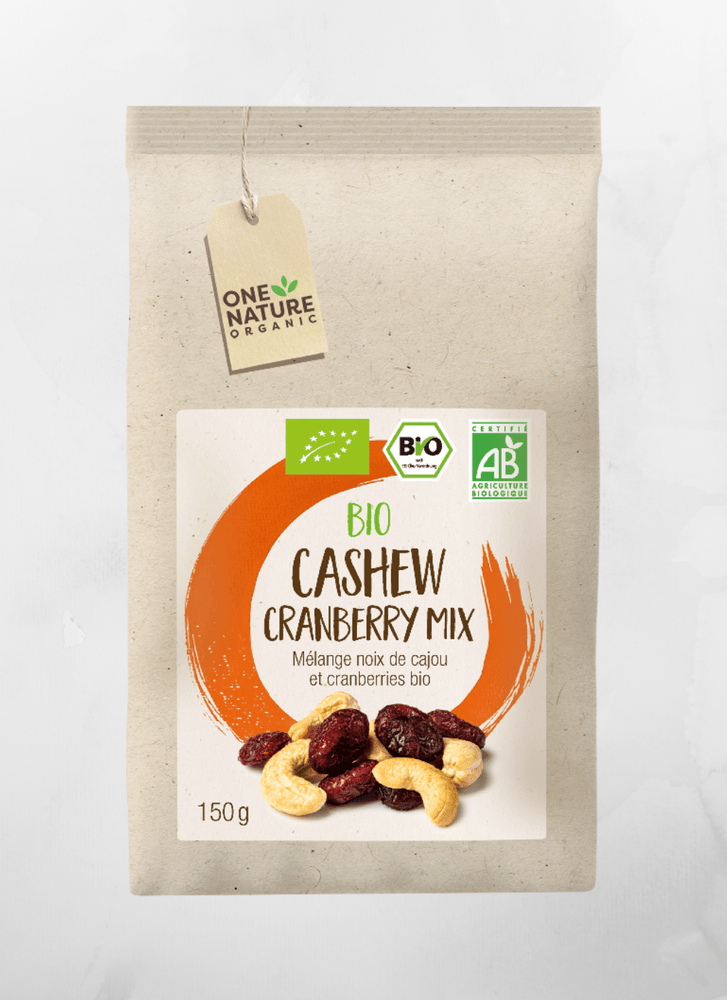 One Nature - Trockenfrüchte Cashew - Cranberry Mix  - 150g - allesbiovegan