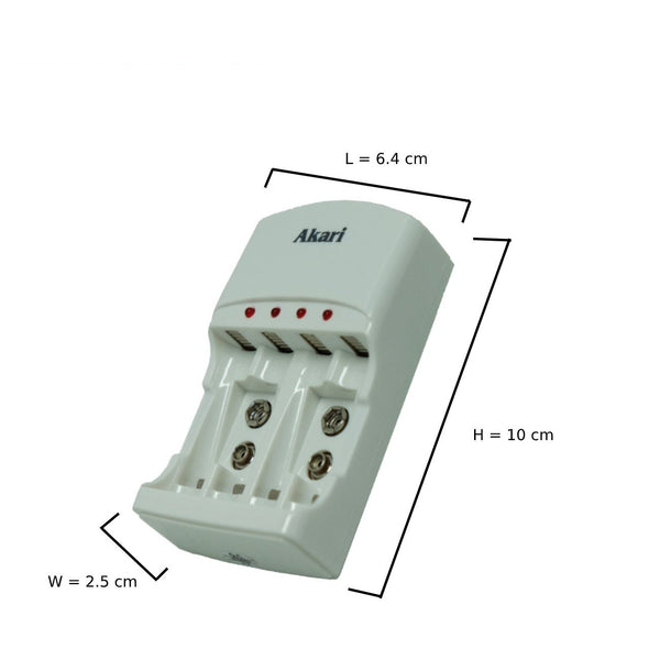 ARBC-804 Automatic Battery Charger with 4x2800 mah battery